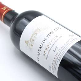 Chateau Bon Ami bordeaux red bottle