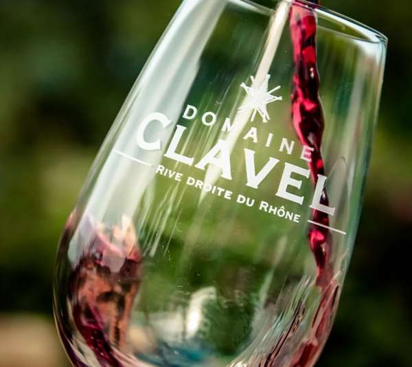 Domaine Clavel Rhone Valley wine glass
