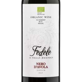 Fedele organic sicilian red wine nero d'avola