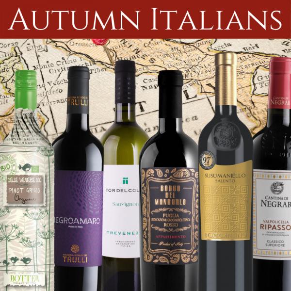 Italian wines mixed case for Autumn