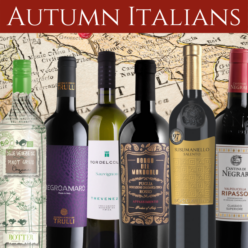 Italian wines mixed case for Autumn