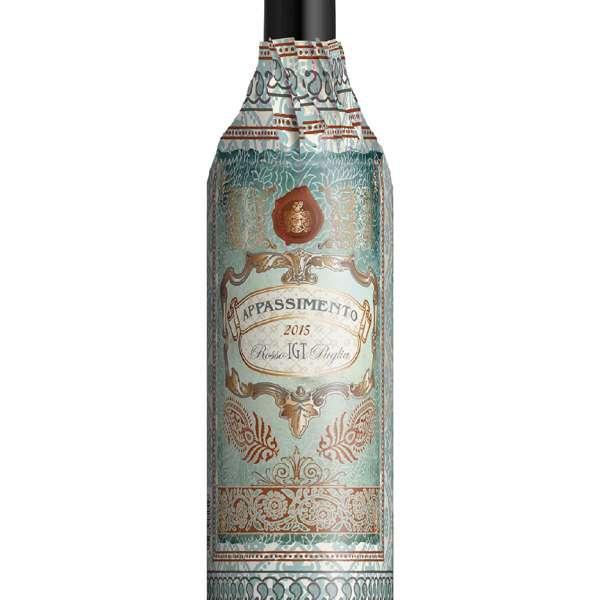 Appassimento di Puglia wrap label Italian red wine