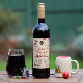 Jacob Marley mulled wine on a table