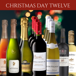Mixed case of 12 wines and champagne perfect for Christmas Day