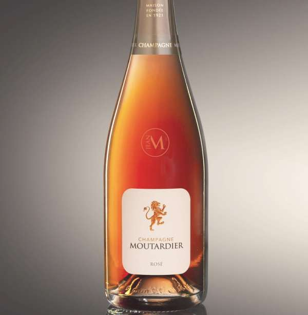 Champagne Moutardier Rose Champagne bottle