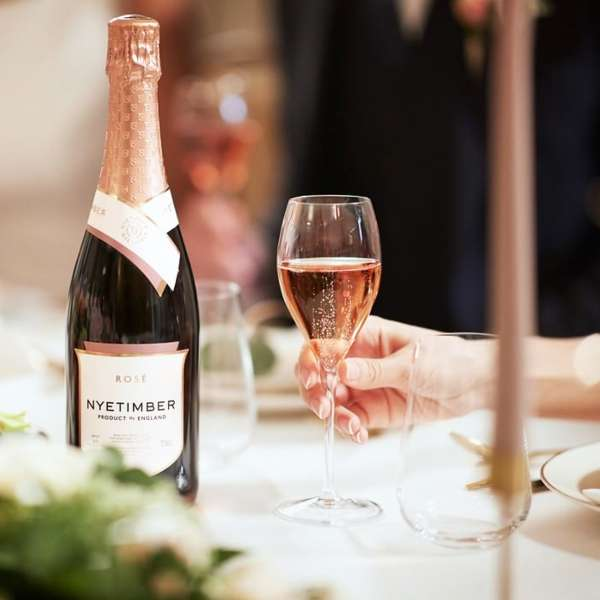 Nyetimber sparkling rose english wine