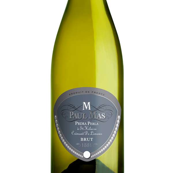 Paul Mas Prima Perla Cremant de Limoux French sparkling wine bottle