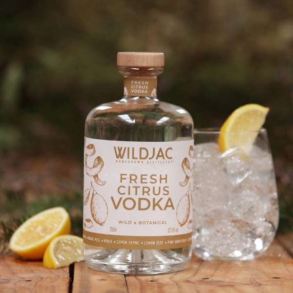 Wildjac Fresh Citrus Vodka made in worcestershire