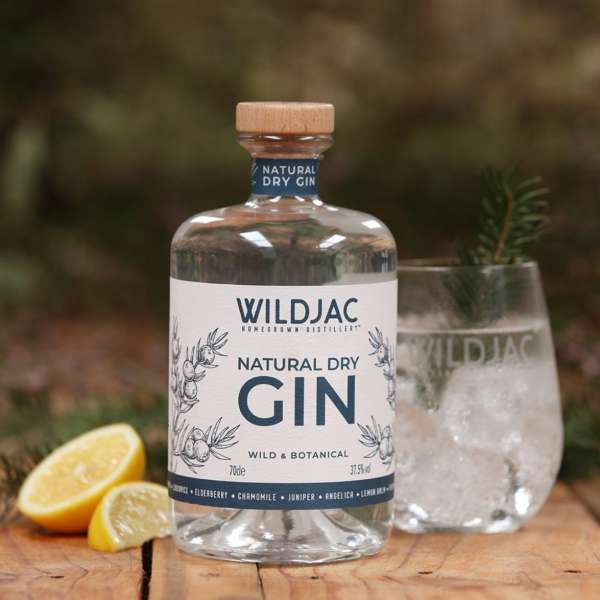 Wildjac natural dry gin Worcestershire