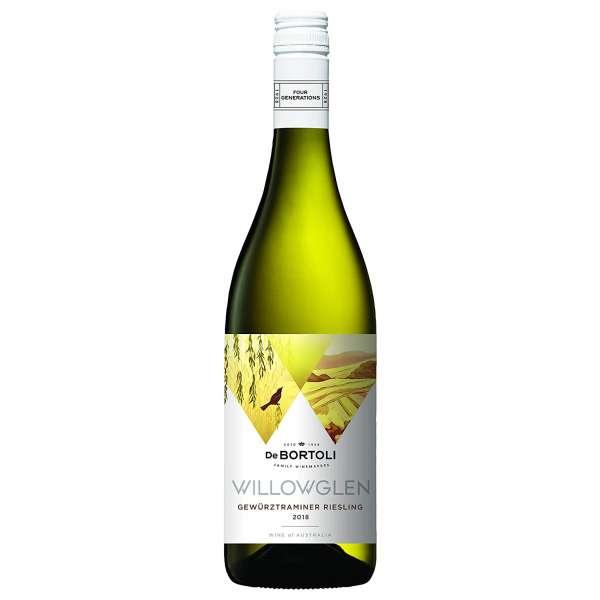 De Bortoli Willowglen Gewurztraminer Riesling wine bottle
