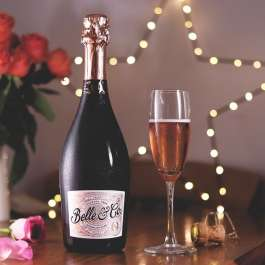Belle and co rose sparkling wine alcohol free