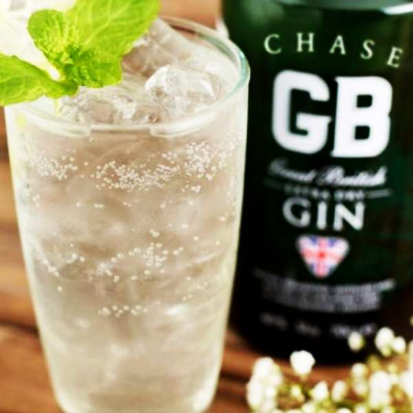 Chase GB Gin with cocktail