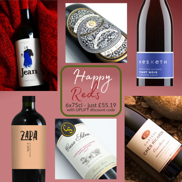 Mixed case wines red wines to make you happy
