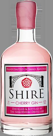 Shropshire distillery cherry gin bottle