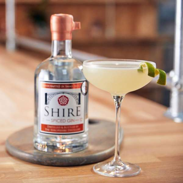 Shropshire distillery spiced gin with cocktail
