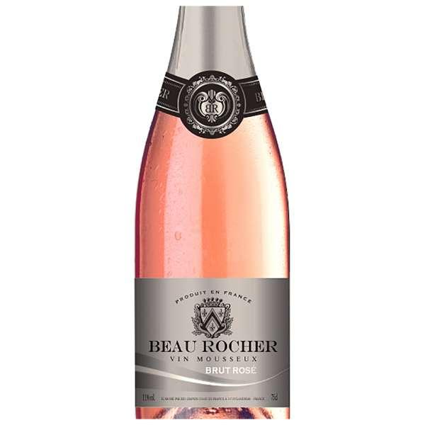 Beau Rocher Vin Mousseux sparkling rose wine
