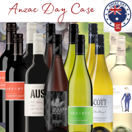 Anzac Day mixed case of Australian and New Zealand wines